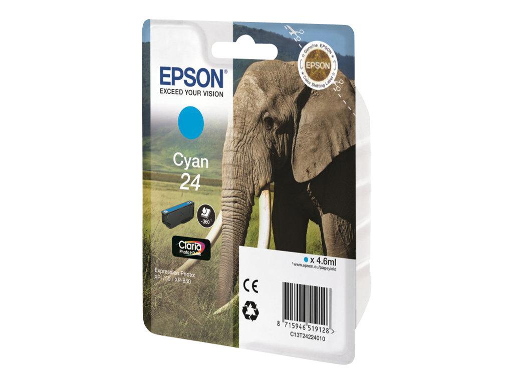 Epson 24 - cyan - originale - cartouche d'encre