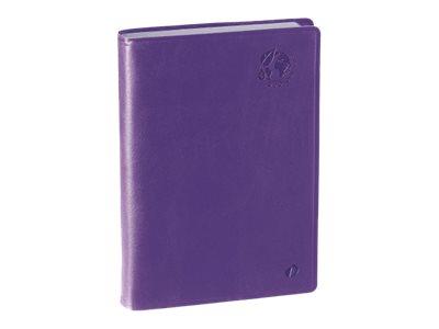 Quo Vadis Agenda Equology - Daily agenda - 1 jour par page - 120 x 170 mm - violet