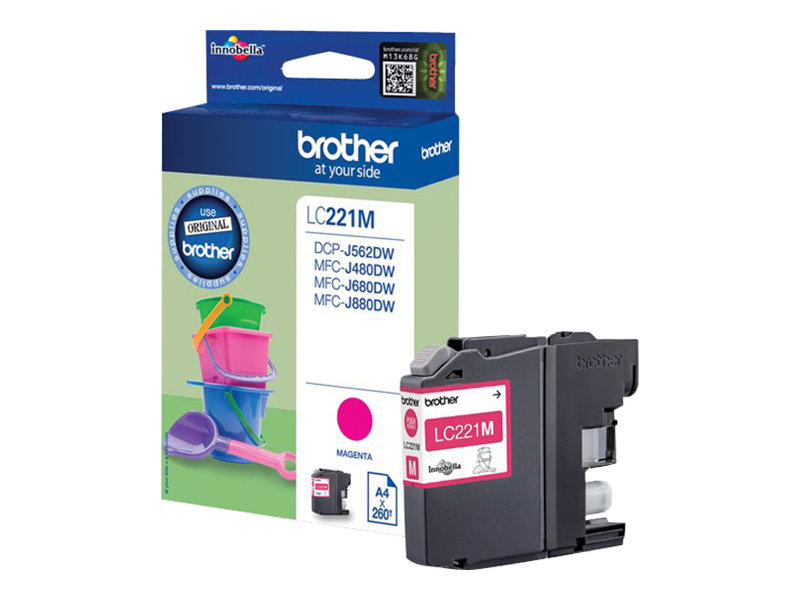 Brother LC221M - magenta - originale - cartouche d'encre