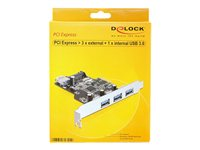 Delock PCI Express Card > 3 x external+, Delock PCI Express Card