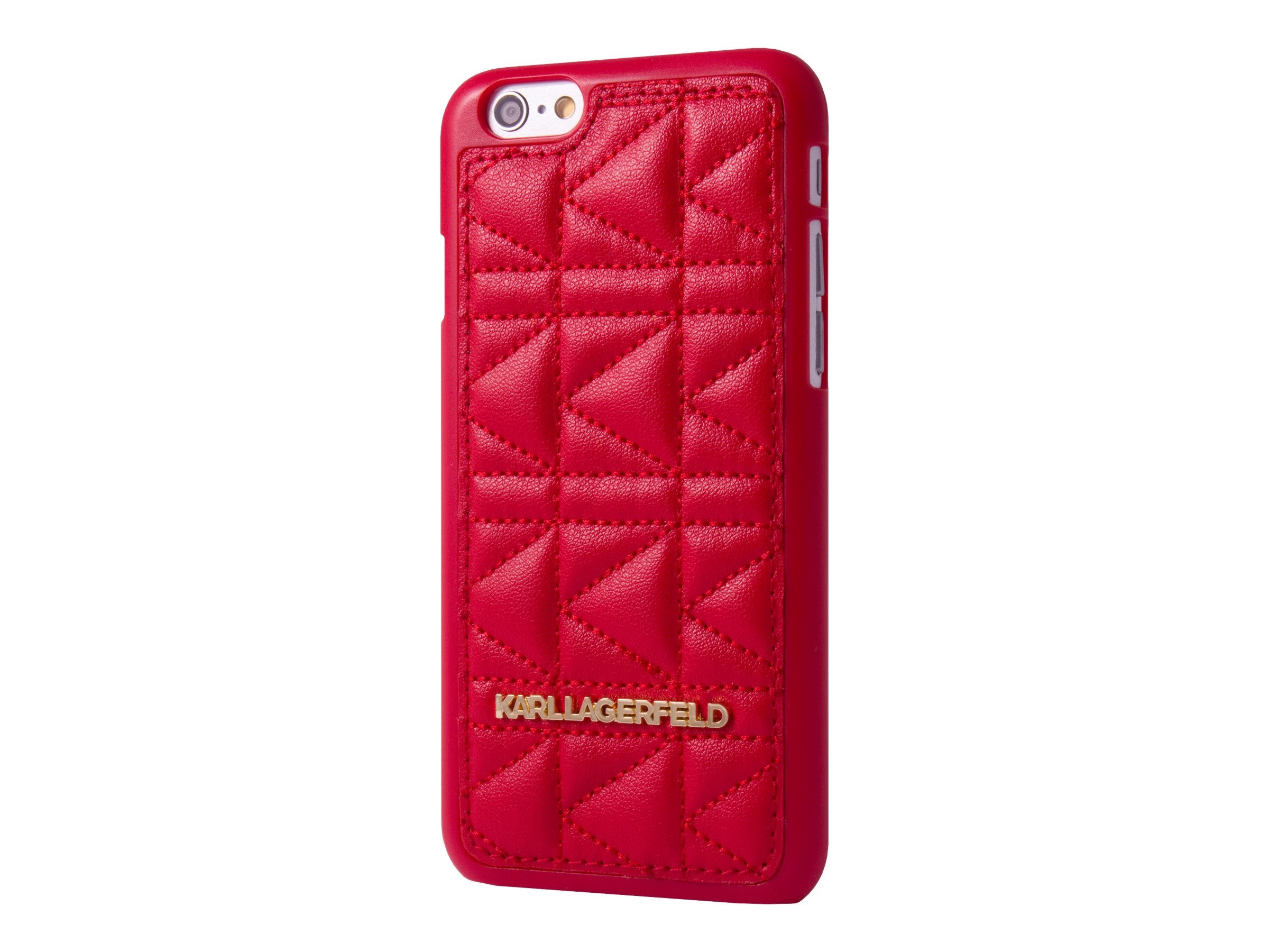 KARL LAGERFELD KUILTED - Coque de protection pour pour iPhone 6 Plus - cuir - rouge