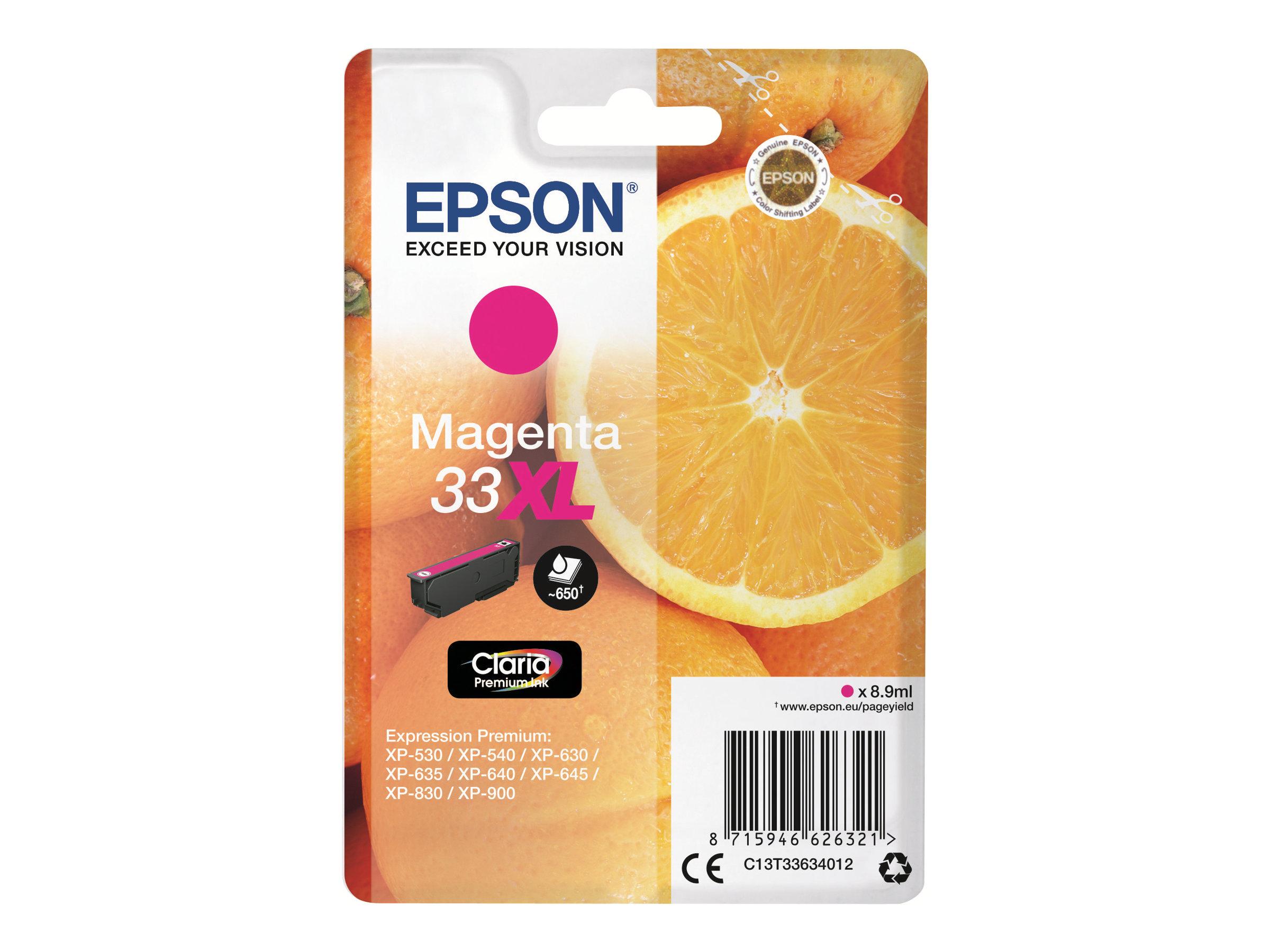 Epson T33XL Orange - à rendement élevé - magenta - originale - cartouche d'encre
