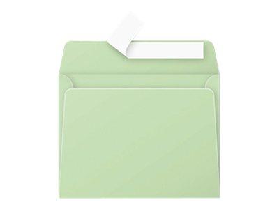 Pollen - Enveloppe - 90 x 140 mm - avec bande (auto-adhésif) - vert - pack de 20