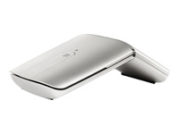 Lenovo Yoga Mouse - Mouse / remote control - optical - wireless - 2.4 GHz, Bluetooth 4.0 - USB wireless receiver - silver - for Legion 5 15IMH05; 5P 15ARH05; ThinkPad X12 Detachable; V14 G2 ALC; V15 IML; V50s-07