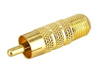 StarTech.com RCA to F Type Coaxial Adapter M/F