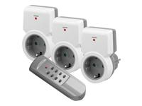 goobay NK FUNK II STARTERKIT 3+1 Automatisk strøm kontakt AC 230 V