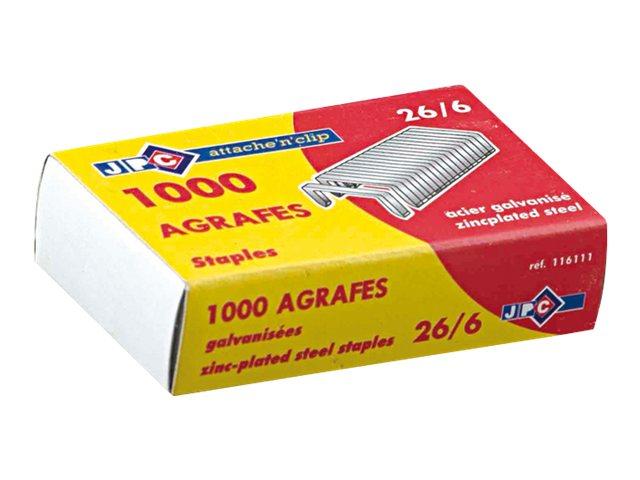 JPC CREATIONS - 1000 Agrafes - 26/6 - acier