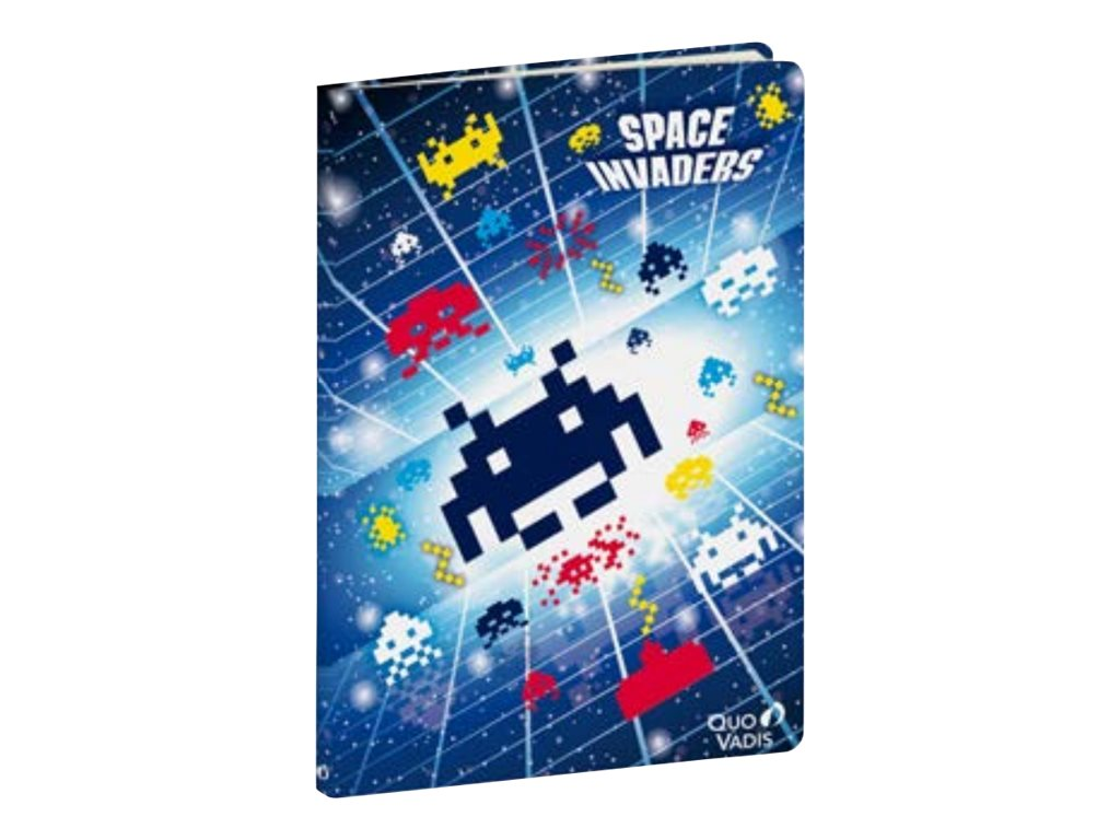 Quo Vadis Space Invaders 21 - carnet- A5 (15 x 21 cm) -  96 pages - papier ivoire - gradué (pack de 5)
