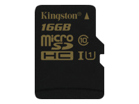 Kingston - carte mémoire flash - 16 Go - microSDHC UHS-I