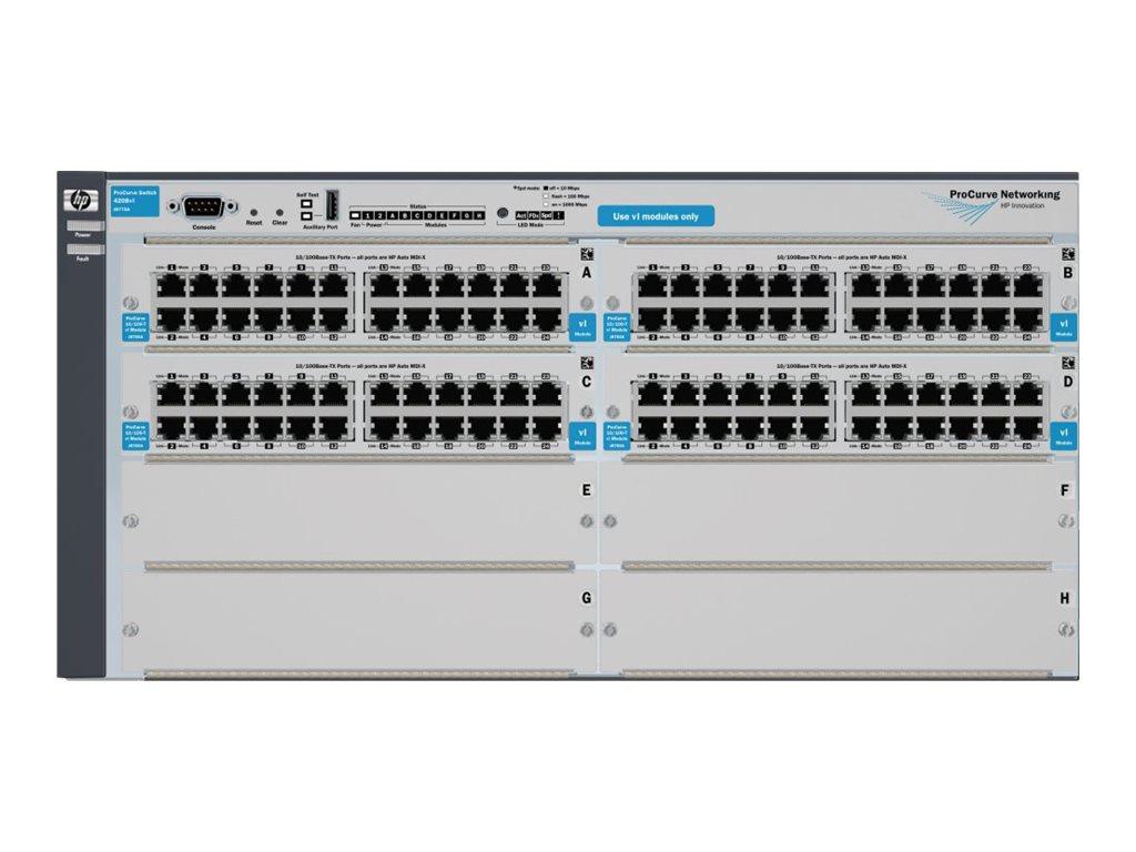Hp J8775b E 4208vl 96 Switch Chassis 4 Opens Slot Netgear Gs105e100pes Gigabit Ethernet 5port Vlan Green Hpe