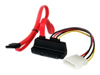 StarTech.com Upward Right Angle SATA Cable with LP4 Adapter