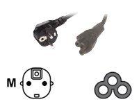 MCL Samar - Câble d'alimentation - CEE 7/7 (SCHUKO) (M) pour IEC 60320 C5 (F) - 2 m - Sachet