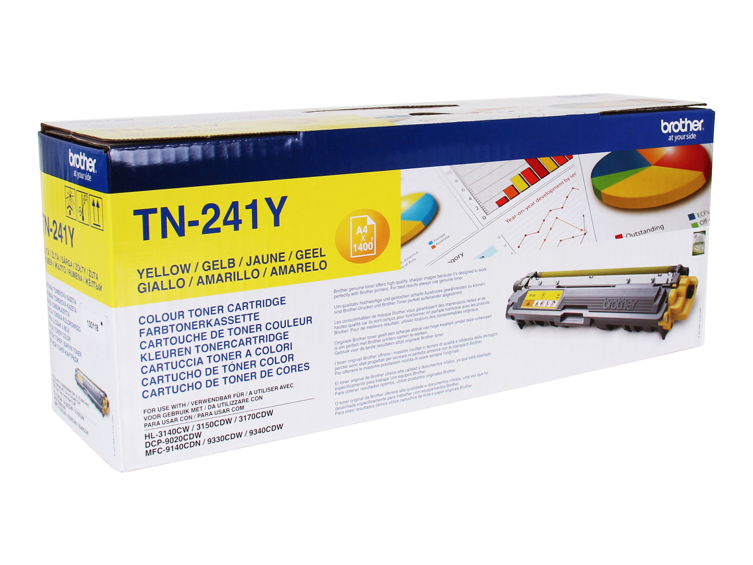 Brother TN241Y - jaune - original - cartouche de toner