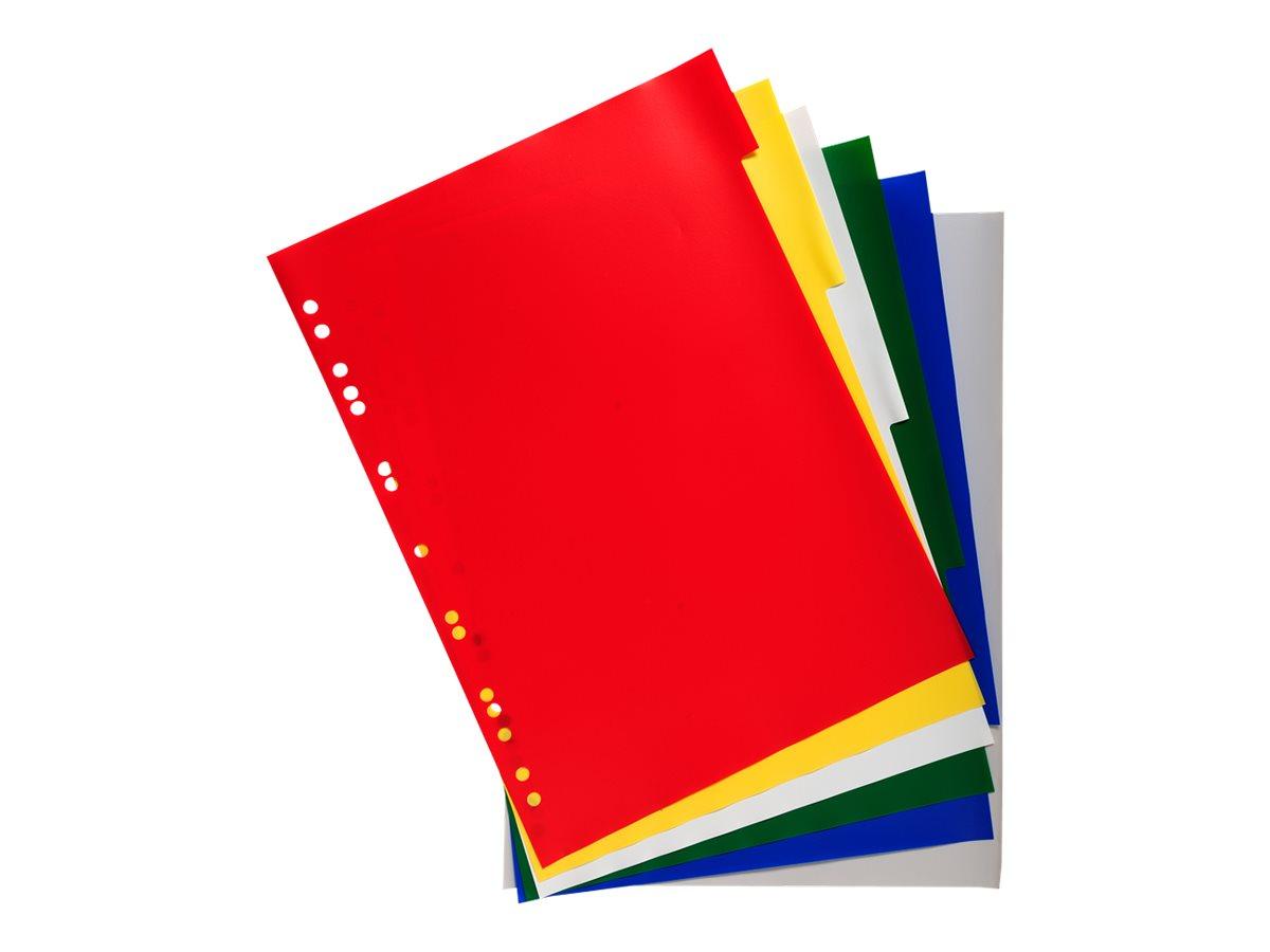 Exacompta - Intercalaire - 6 positions - A4 - à onglets - couleurs transparentes assorties
