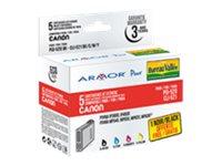 Armor - pack de 5 - noir, jaune, cyan, magenta - cartouche d'encre (équivalent à : Canon CLI-521M, Canon PGI-520BK, Canon CLI-521Y, Canon CLI-521BK, Canon CLI-521C)