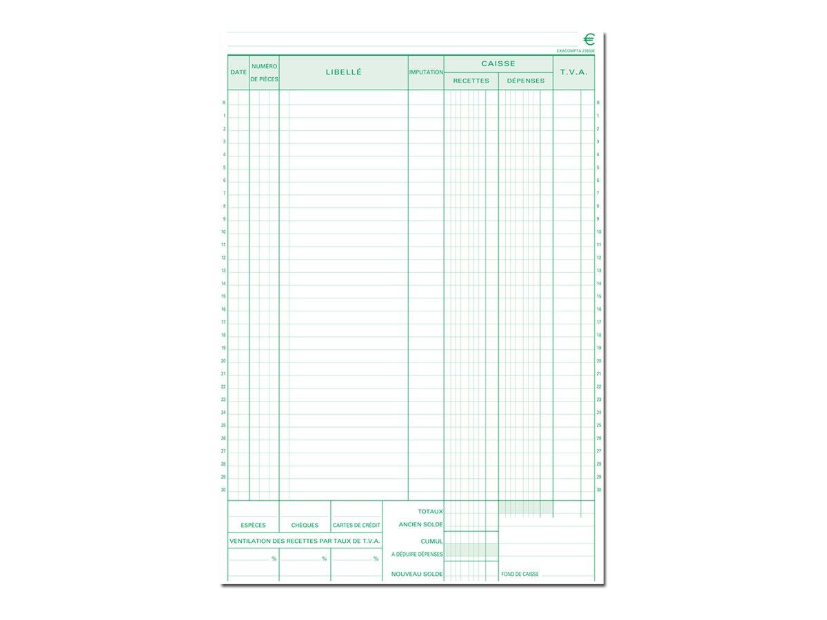 Exacompta - Manifold de reçus - 50 feuilles - A4 - en double