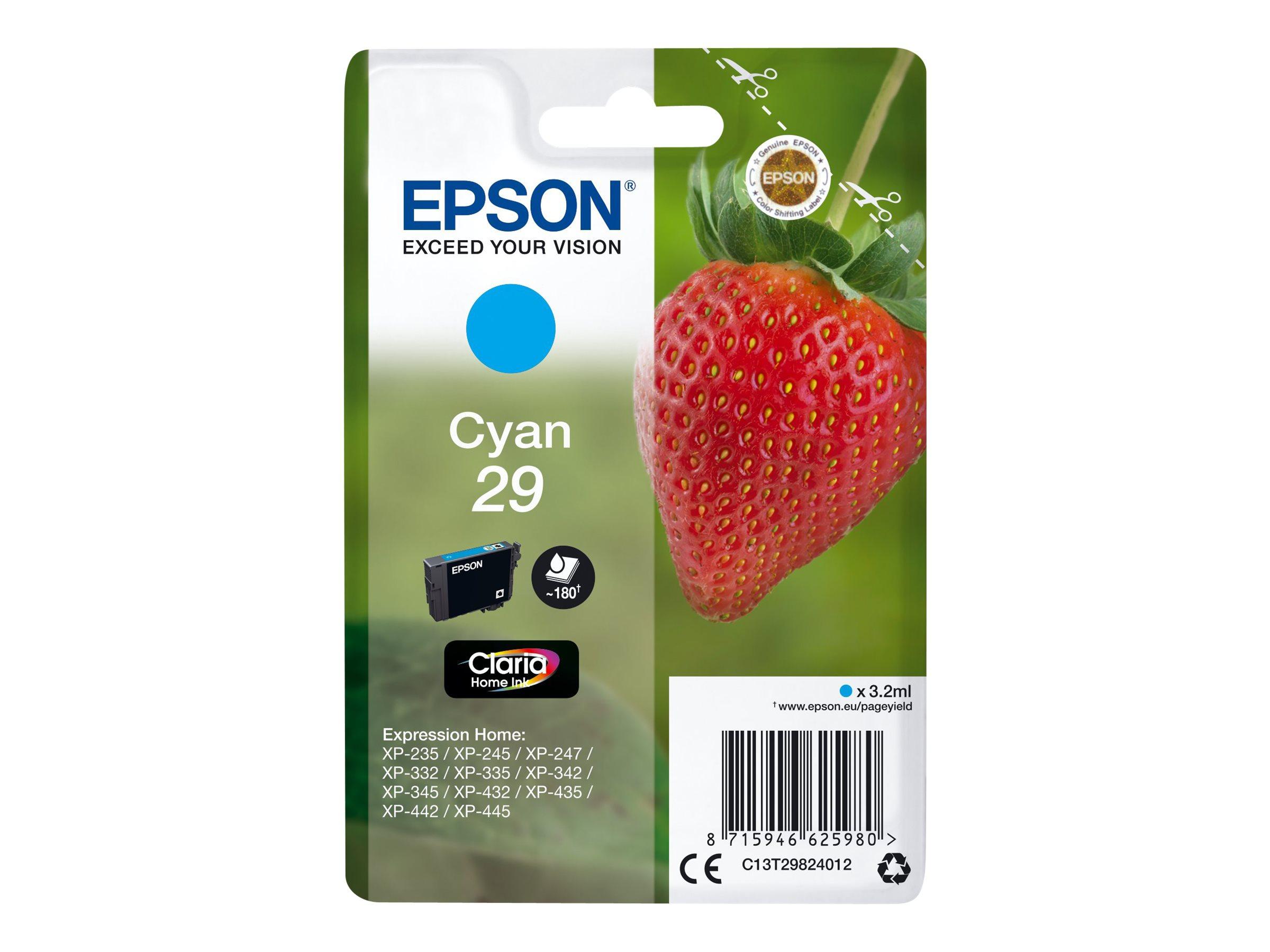 Epson T29 - fraise - cyan - originale - cartouche d'encre