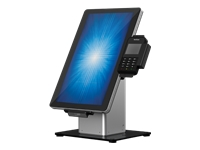 Elo Slim Self-Service Countertop Stand - Stand for point of sale terminal - black/silver - for Elo 1502L, 2002L, 2202L, 2402L; I-Series ESY15i2, ESY15i5, ESY22i2, ESY22i5