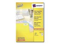 Avery Mini Laser L7652 - étiquettes adhésives permanentes d'adresse de retour - 6400 étiquette(s)