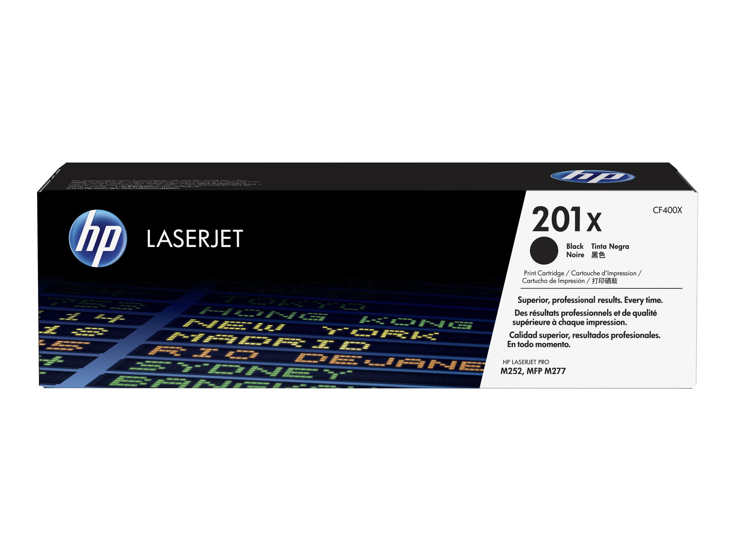 HP 201X - à rendement élevé - noir - originale - LaserJet - cartouche de toner (CF400X)