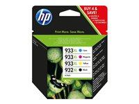 HP Ink Cart/932XL/933XL Black/CMY 4 Pack, HP Ink Cart/932XL/933X