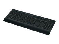 Logitech Corded K280e - clavier - français