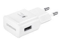 Samsung EP-TA20EWEU Strøm adapter AC / USB 2000 mA (USB) hvid