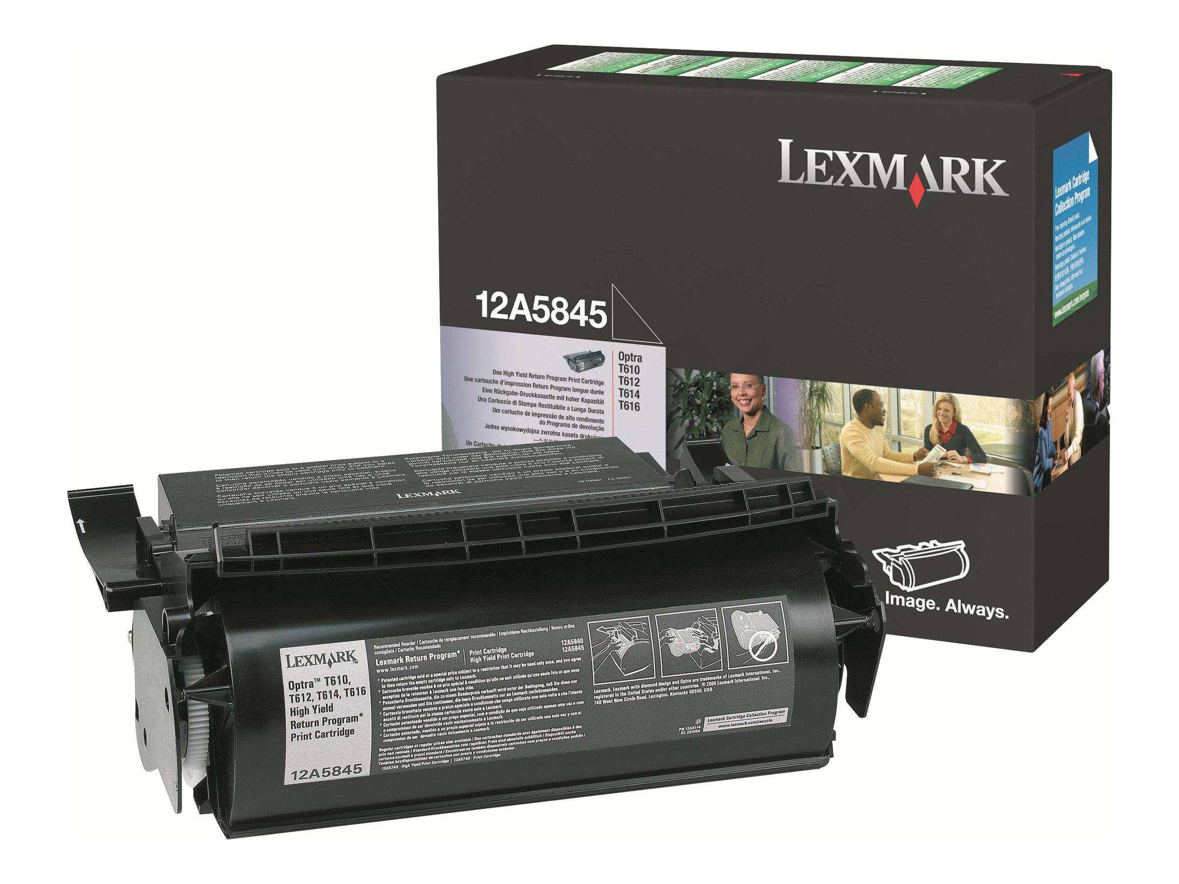 Lexmark - Noir - 12A5845 - 25000 pages - original - cartouche de toner