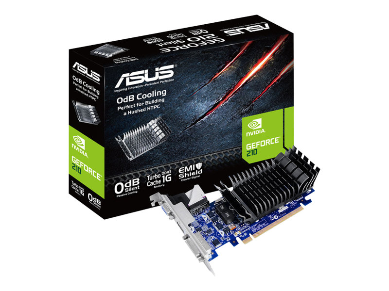 ASUS 210-SL-TC1GD3-L carte graphique - GF 210 - 1 Go