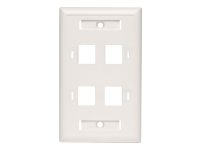 Tripp Lite Quad Outlet RJ45 Universal Keystone Face Plate / Wall Plate