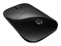 HP Z3700 - Mouse - blue Led - wireless - 2.4 GHz - USB wireless receiver - black - for x360