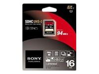Sony Flashhukommelseskort 16 GB Class 10 SDHC UHS-I