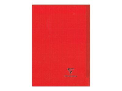 Clairefontaine Koverbook - Cahier - A4 - 96 pages - petits carreaux - transparent, disponible dans différentes couleurs