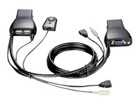 USB KVM Switch 2p with Audio