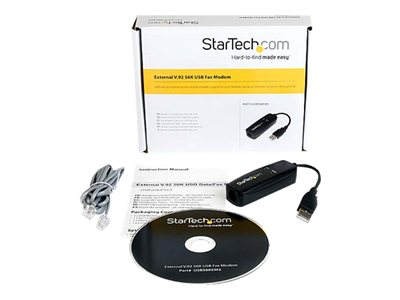 Startech V.92 56K Usb Modem Fax Modem Dial Up Data