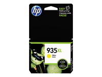 HP 935XL - 9.5 ml - High Yield - yellow - original - ink cartridge - for Officejet 6812, 6815, 6820; Officejet Pro 6230, 6230 ePrinter, 6830, 6835