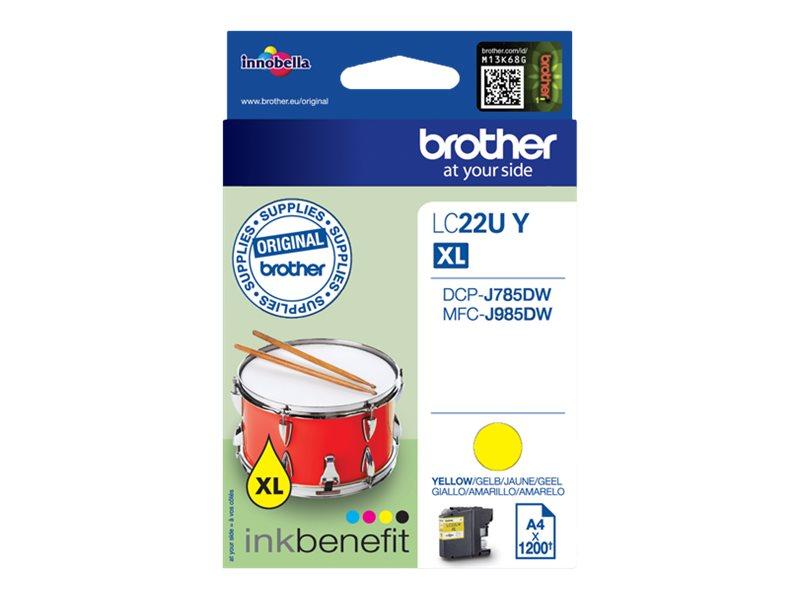 Brother LC22UY - XL - jaune - originale - cartouche d'encre