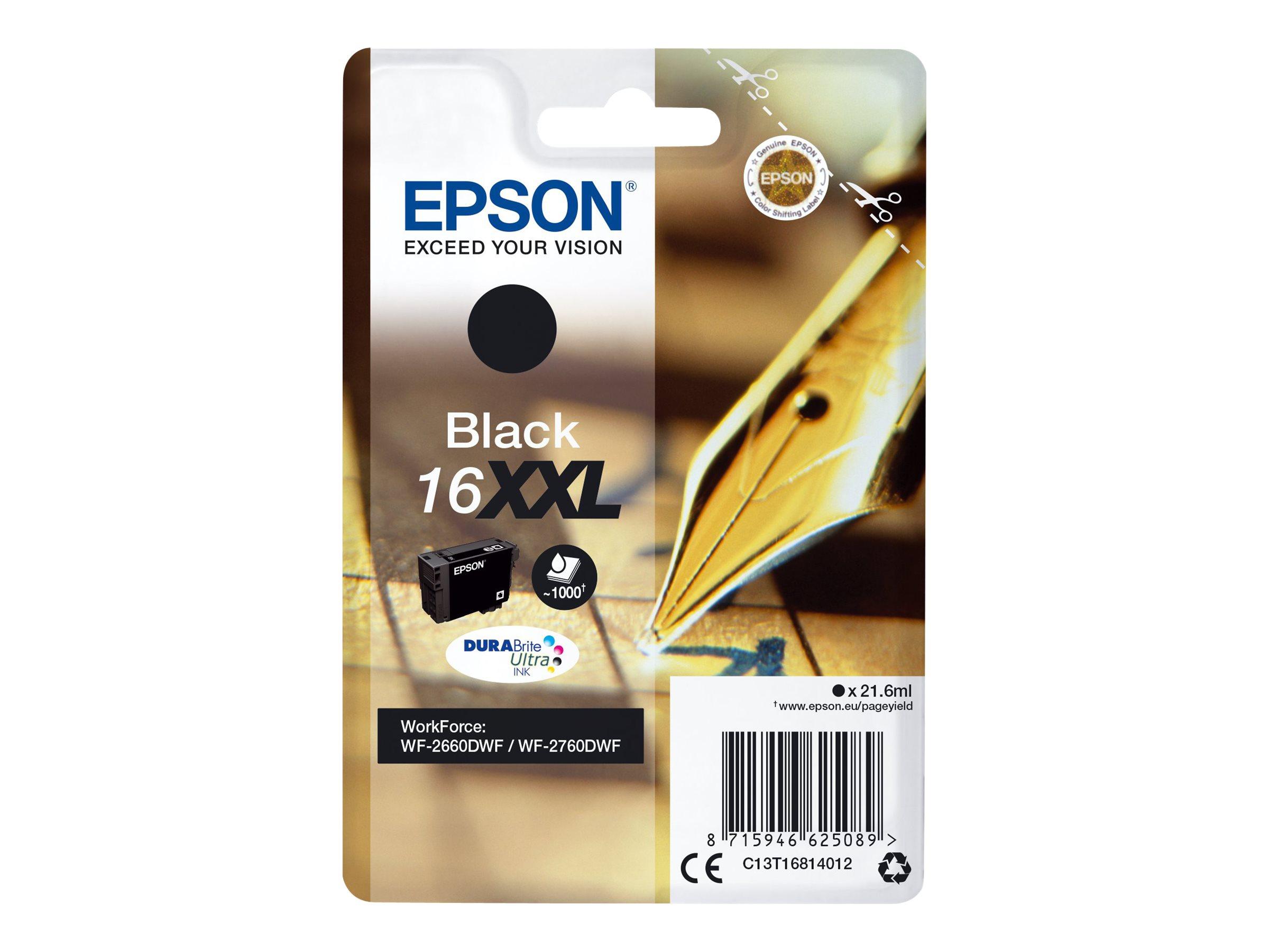 Epson T16XXL - stylo plume - taille XXL - noir - originale - cartouche d'encre