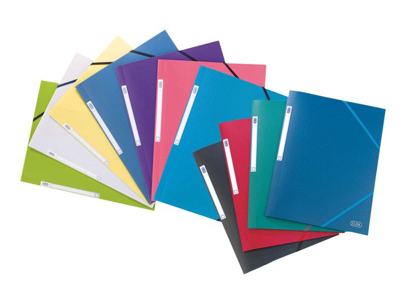 ELBA memphis - Chemise à 3 rabats - A4 - couleurs assorties