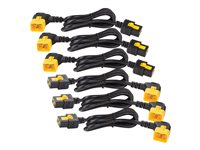 APC Power Cord Kit (6 ea) Locking C19 to C20 (90 Degree) 1.2m