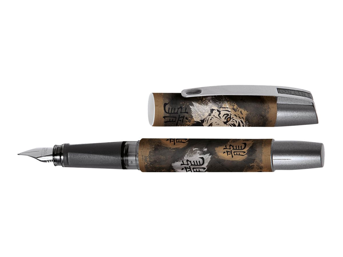 ONLINE YOUNG.LINE Campus Lefty Tiger Brush - Stylo plume - bleu