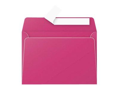 Pollen - Enveloppe - 114 x 162 mm - avec bande (auto-adhésif) - rose framboise - pack de 20
