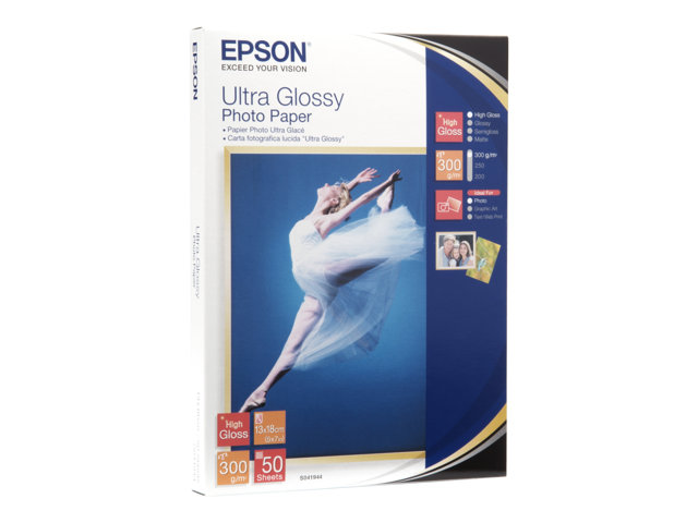 epson ultra glossy photo paper brillant 130 x 180 mm. Black Bedroom Furniture Sets. Home Design Ideas