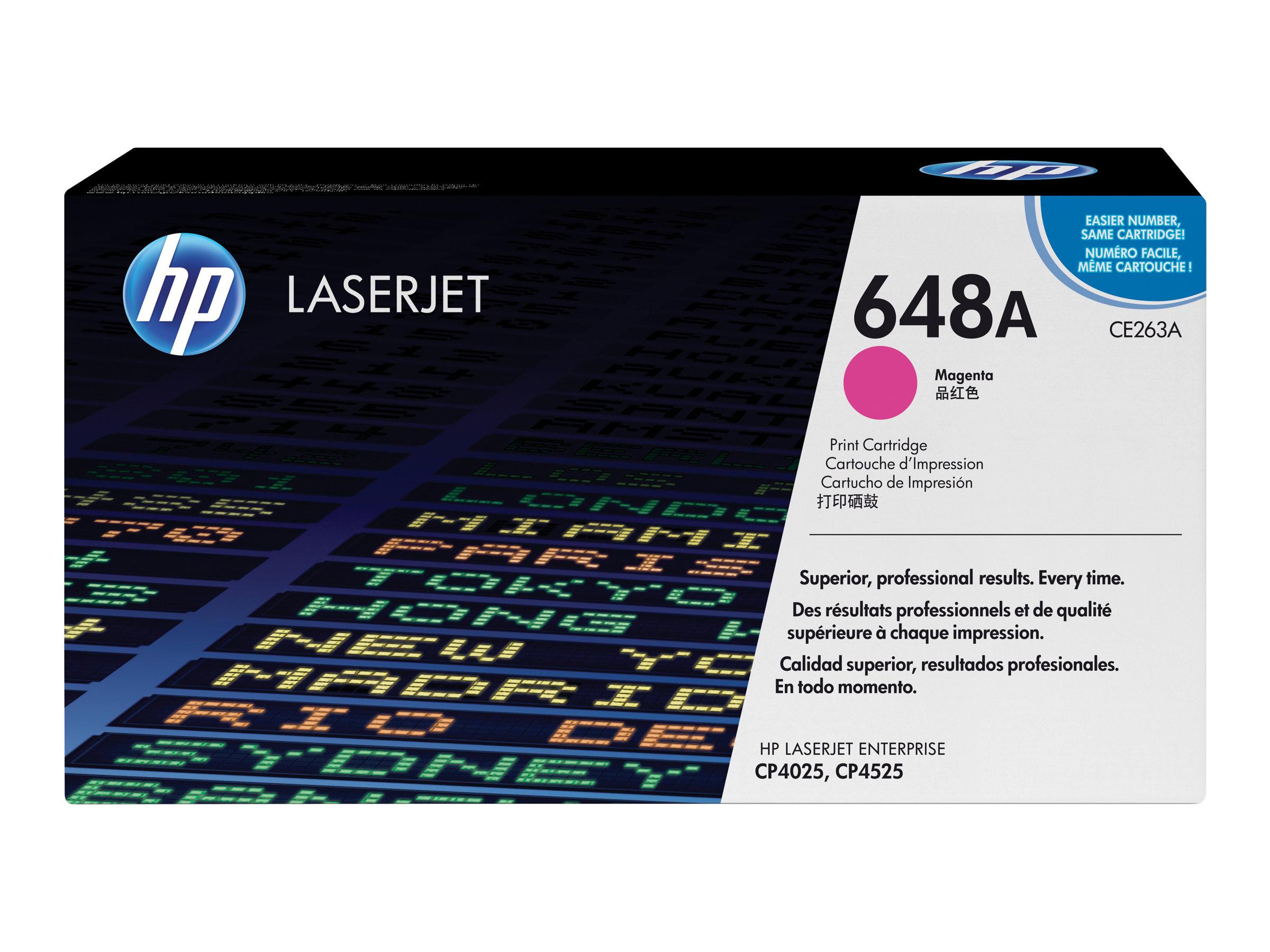 HP 648A - magenta - originale - LaserJet - cartouche de toner (CE263A)