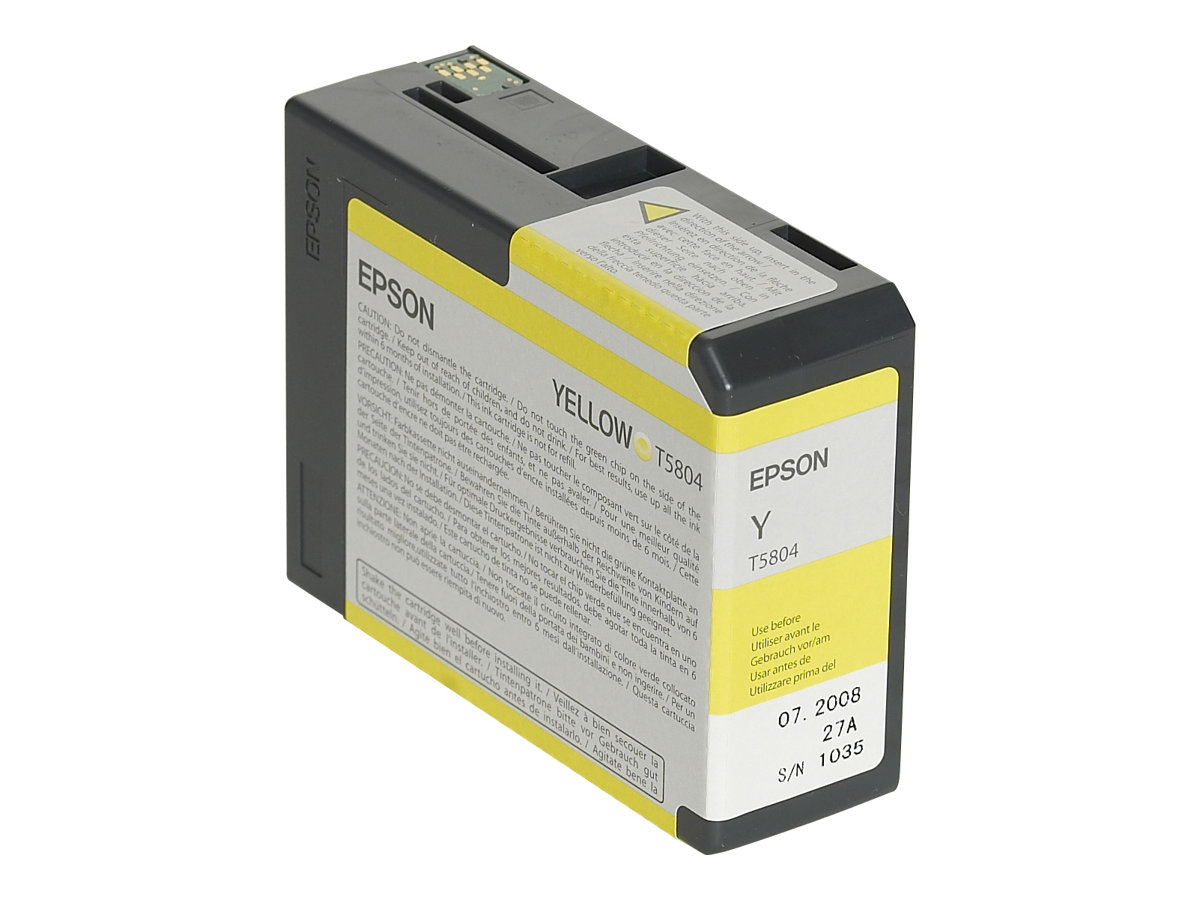 Epson T5804 - jaune - originale - cartouche d'encre