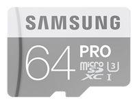 SAMSUNG, Micro SD Card PRO 64GB w/Adapter