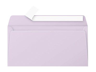 Pollen - Enveloppe - 110 x 220 mm - avec bande (auto-adhésif) - glycine - pack de 20