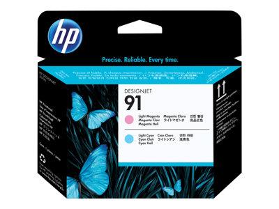 HP 91 - Světlá fialová, světle azurová - tisková hlava - pro DesignJet Z6100, Z6100ps