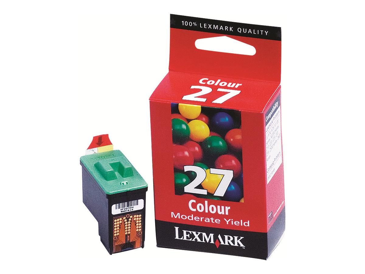 Lexmark 27 - couleurs (cyan, magenta, jaune) - originale - cartouche d'encre