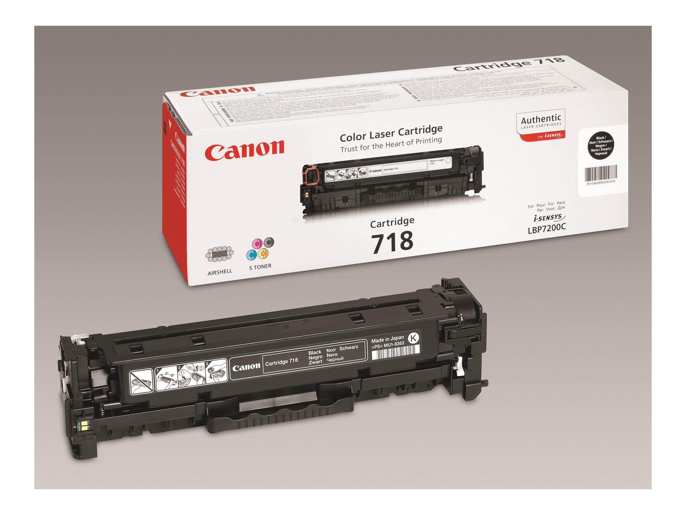 Canon 718 Black - noir - originale - cartouche de toner
